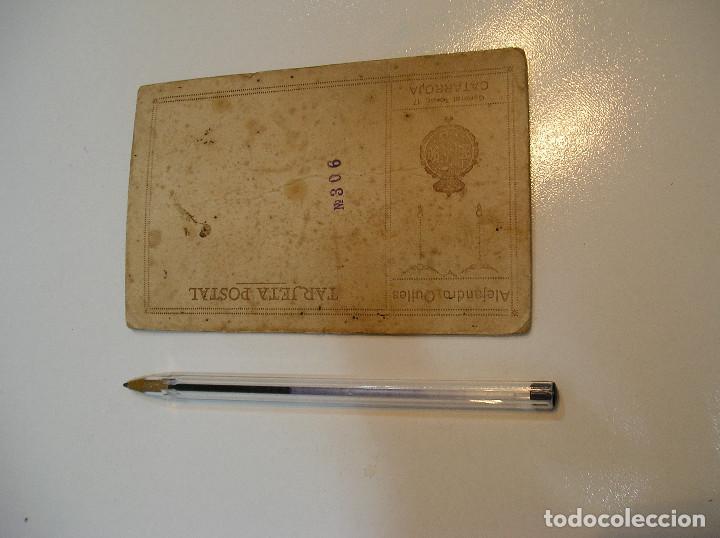 Postales: ANTIGUA TARJETA POSTAL CARTON MATRIMONIO FOTO ALEJANDRO QUILES CATARROJA (20-10-2) - Foto 5 - 221432245