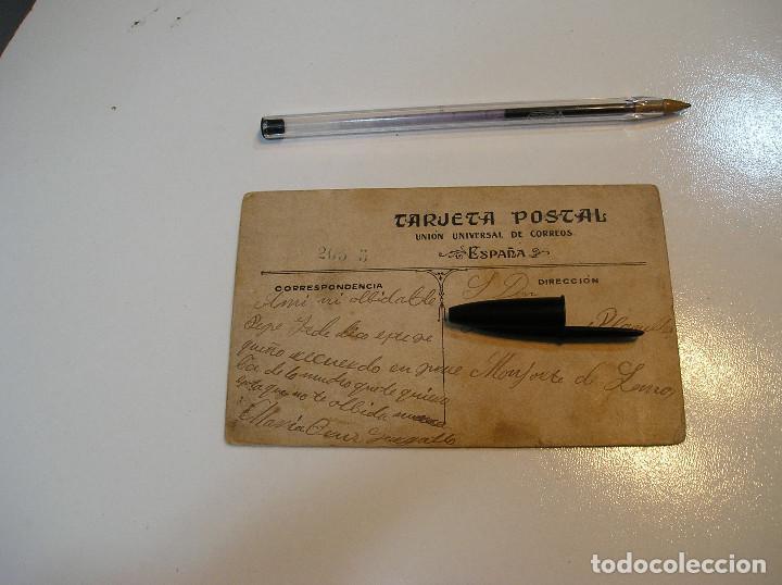 Postales: POSTAL CARTON DURO CHICA EN UN BARCO (20-10-2) - Foto 4 - 221432572