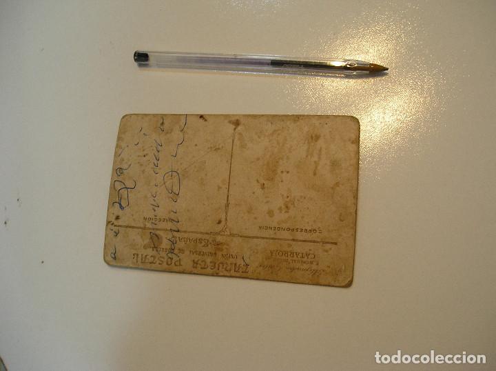 Postales: ANTIGUA TARJETA POSTAL CARTON MATRIMONIO FOTO ALEJANDRO QUILES CATARROJA (20-10-2) - Foto 4 - 221432597