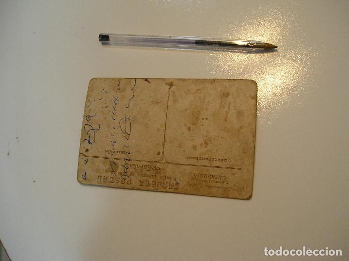 Postales: ANTIGUA TARJETA POSTAL CARTON MATRIMONIO FOTO ALEJANDRO QUILES CATARROJA (20-10-2) - Foto 5 - 221432597