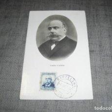 Postales: POSTAL CIRCULADA EMILIO CASTELAR II REPUBLICA PRESIDENTE BARCELONA EVENTO POSTAL CREO. Lote 221956852