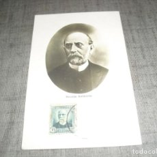 Cartes Postales: POSTAL NICOLAS SALMERON PRESIDENTE II REPUBLICA CIRCULADA BARCELONA EVENTO POSTAL CREO. Lote 221956990