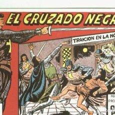 Postales: POSTAL-FICHA: EL CRUZADO NEGRO. Lote 222514321