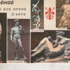 Postales: POSTAL 012436: VISTAS VARIAS DE ARTE DE FIRENZE, ITALIA. Lote 222514326