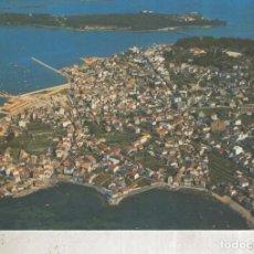 Postales: POSTAL 012449: VISTA AEREA DE EL GROVE CON LA ISLA DE LA TOJA, PONTEVEDRA. Lote 222514430