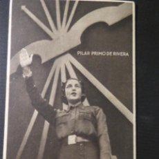 """Postales: POSTAL COLECCIÓN """"MUJERES DE LA FALANGE"""" PILAR PRIMO DE RIVERA (F.1). NO CIRCULADA. Lote 222814442"""
