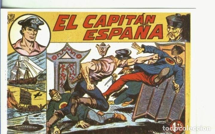 POSTAL 00614: FICHA: EL CAPITAN ESPAÑA (Postales - Varios)