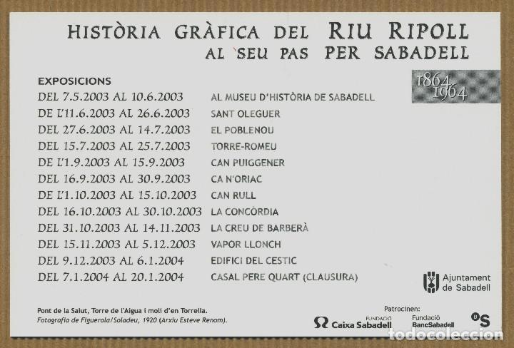 Postales: HISTORIA GRAFICA RIU RIPOLL SABADELL - Foto 2 - 267891284
