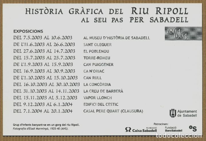 Postales: HISTORIA GRAFICA RIU RIPOLL SABADELL - Foto 2 - 267891364