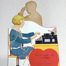 Postales: POSTAL DE SAN VALENTIN DESPLEGABLE Y PART MOVIL. AÑOS 30-40. MADE IN CHICAGO. Lote 227781960