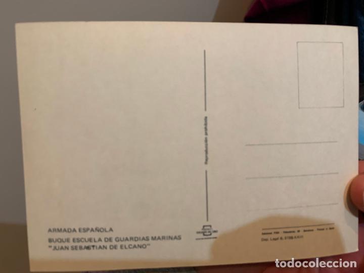 Postales: POSTAL DEL JUAN SEBASTIAN EL CANO CUSTODIADO POR UN HELICOPTERO - Foto 2 - 228200950