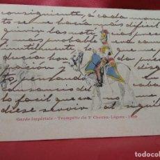 Cartoline: POSTAL MILITAR FRANCESA GARDE IMPÉRIALE TROMPETTE DU 2E CHEVAU-LÉGERS 1809. 1904. POSTAL-663. Lote 230040215