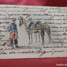 Cartoline: POSTAL MILITAR FRANCESA TRAIN DES EQUIPAGES 1901. 1904. POSTAL-665. Lote 230040435