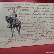 Cartoline: POSTAL MILITAR FRANCESA GARDE IMPÉRIALE 1ER CHEVAU LÉGERS LANCIERS 1807. 1904. POSTAL-671. Lote 230041585