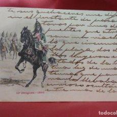 Cartoline: POSTAL MILITAR FRANCESA NÚMERO 13 DRAGONS 1800. 1904. POSTAL-687. Lote 230045425