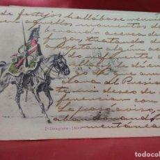 Cartoline: POSTAL MILITAR FRANCESA NÚMERO 7 DRAGONS 1800. 1904. POSTAL-689. Lote 230045600