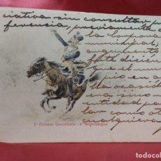 Cartoline: POSTAL MILITAR FRANCESA NÚMERO 7 GROSSE CAVALERIE 1ER RÉPUBLIQUE. 1904. POSTAL-693. Lote 230045995