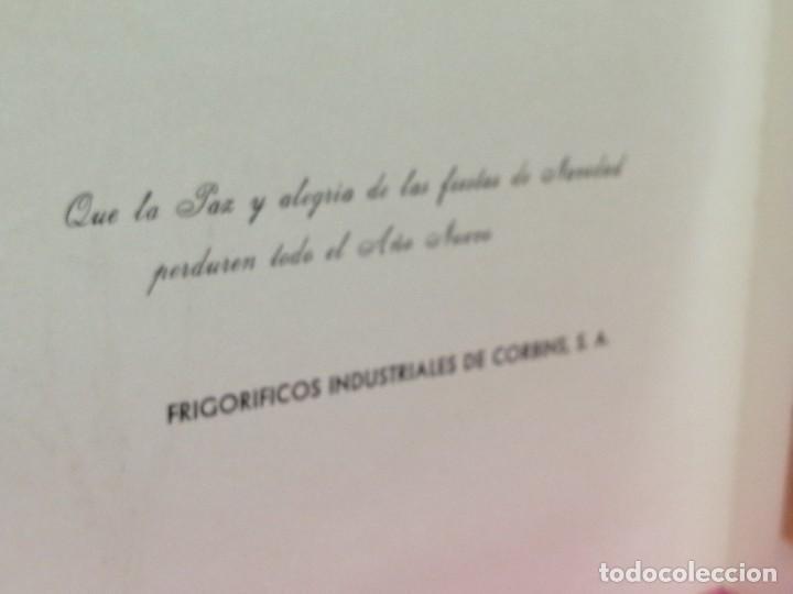 Postales: POSTAL DE NAVIDAD FICOSA FRIGORÍFICOS INDUSTRIALES DE CORBINS LLEIDA, CON FOTO DE LA, NAVE AÑOS 70 - Foto 2 - 230949765