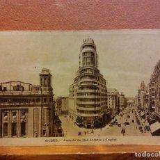 Postais: MADRID.AVENIDA DE JOSE ANTONIO Y CAPITAL. BONITA POSTAL. CIRCULADA. Lote 232470400