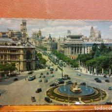 Postais: MADRID. PANORÁMICA DE LA PLAZA DE LA CIBELES Y CALLE DE ALCALÁ. BONITA POSTAL. CIRCULADA. Lote 232470925