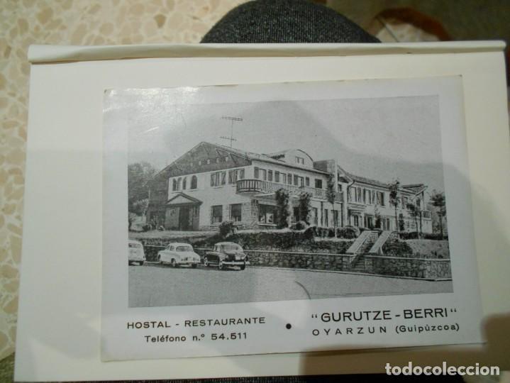 POSTAL DE GUIPUZCOA -GURUTZE-BERRI -HOSTAL RESTAURANTE-CREO AÑOS 50 (Postales - Varios)