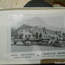 Postales: POSTAL DE GUIPUZCOA -GURUTZE-BERRI -HOSTAL RESTAURANTE-CREO AÑOS 50. Lote 235802040