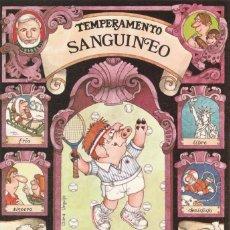 Postales: POSTAL - SANGUINEO - SERIE TEMPERAMENTOS - ED POSTERS DEL TIEMPO - 1983 - DIPTICO -VER FOTO INTERIOR. Lote 235854730