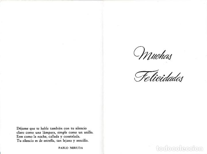Postales: POSTAL - DIPTICO - ROSAS - IMPRESO SOBRE CELOFAN - FASCINATING MEMORIES -E BEASCOA VER FOTO INTERIOR - Foto 2 - 235856035