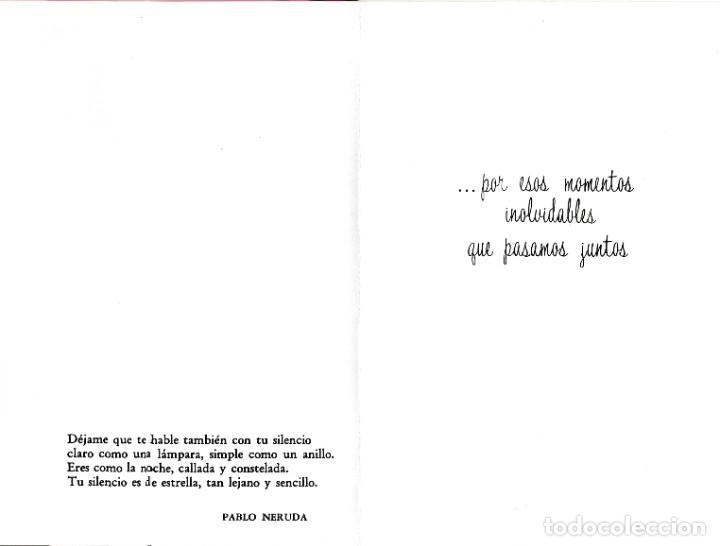 Postales: POSTAL - DIPTICO - ROSAS - IMPRESO SOBRE CELOFAN - FASCINATING MEMORIES -E BEASCOA VER FOTO INTERIOR - Foto 2 - 235856195