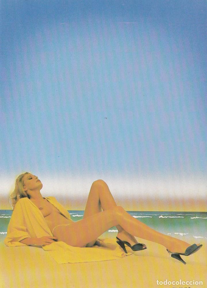 POSTAL - DIPTICO - TOMANDO EL SOL - VERKERKE - 1981 - HOLANDA - INTERIOR EN BLANCO (Postales - Varios)
