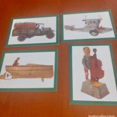Postales: LOTE DE 4 POSTALES NUEVAS DE MASSIMO DUTTY CARD TOYS. Lote 236869275
