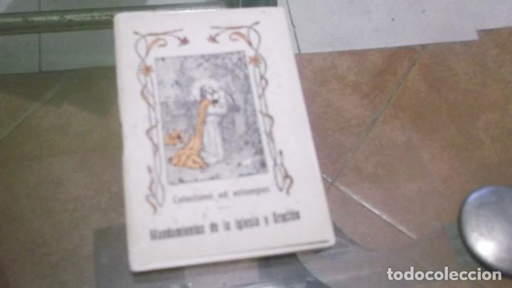 LIBRITO (56PGN) CATECISMO EN ESTAMPAS MANDAMIENTOS DE LA IGLESIA Y ORACIÓN POR EL DR.DANIEL LLORENTE (Postales - Varios)