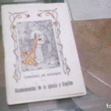 Postales: LIBRITO (56PGN) CATECISMO EN ESTAMPAS MANDAMIENTOS DE LA IGLESIA Y ORACIÓN POR EL DR.DANIEL LLORENTE. Lote 241391105