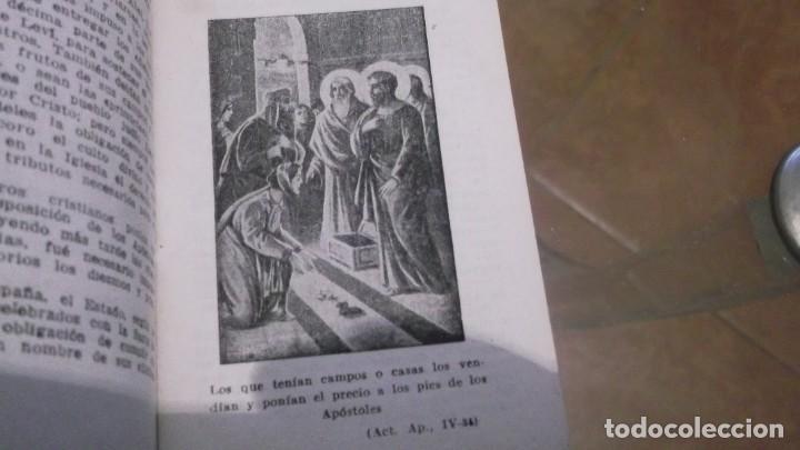 Postales: Librito (56pgn) Catecismo en Estampas Mandamientos de la Iglesia y Oración por el Dr.daniel llorente - Foto 4 - 241391105