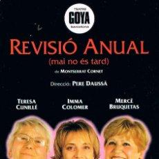 Postales: TEATRO, REVISIÓ ANUAL DE MONTSERRAT CORNET (POSTAL PROMOCIONANDO SU ESTRENO). Lote 244518505