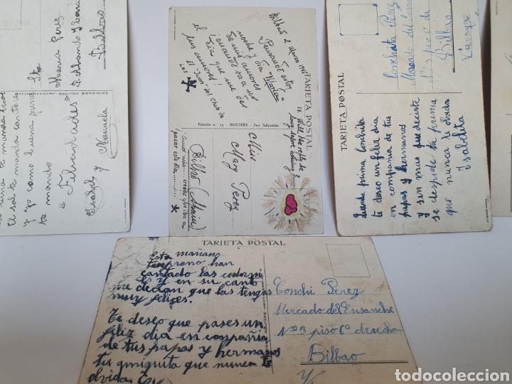 Postales: 5 POSTALES AÑOS 40. EDICIONES AGUIRRE. SAN SEBASTIAN. ILUSTRADOR M.D. - Foto 4 - 245587565