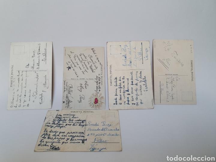 Postales: 5 POSTALES AÑOS 40. EDICIONES AGUIRRE. SAN SEBASTIAN. ILUSTRADOR M.D. - Foto 2 - 245587565