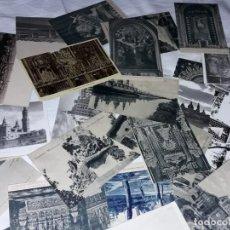 Postales: BELLO LOTE DE 35 ANTIGUAS POSTALES EN BLANCO Y NEGRO DE ZARAGOZA. Lote 247448625