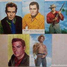 Postales: BONANZA, BRONCO, CHEYENNE. LOS HEROES DE LA TV. CINCO POSTALES AL PRECIO DE UNA.. Lote 251034550
