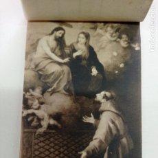 Postales: BLOCK DE 19 POSTALES ANTIGUAS DE MURILLO-MUSEO DEL PRADO. FOTOTIPIA HAUSER Y MENET. 9 X 14 CMS. Lote 252283410