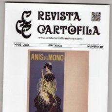 Cartes Postales: REVISTA CARTÒFILA Nº 38. POSTALES ANÍS DEL MONO. BOXEO. SAGRADA FAMILIA. Lote 252791040