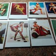 Postales: 8 POSTALES CHICAS PIN-UP. Lote 255009195