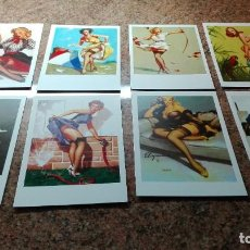 Postales: 8 POSTALES CHICAS PIN-UP. Lote 255009695
