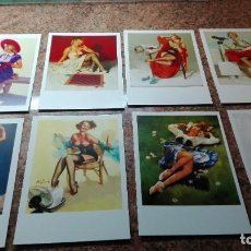 Postales: 8 POSTALES CHICAS PIN-UP. Lote 255009945