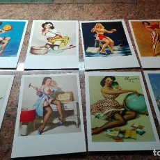 Postales: 8 POSTALES CHICAS PIN-UP. Lote 255010100