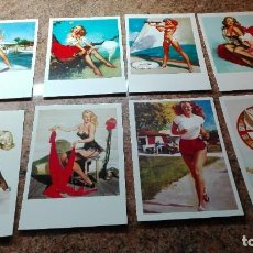 Postales: 8 POSTALES CHICAS PIN-UP. Lote 255010305