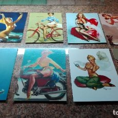 Postales: 8 POSTALES CHICAS PIN-UP. Lote 255019315