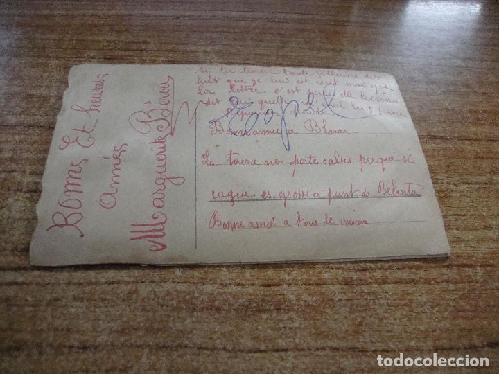 Postales: ANTIGUA POSTAL PAREJA MUCHAS FELICIDADES 1926 ESCRITA - Foto 3 - 256028255