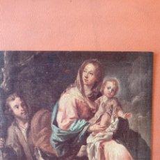Postales: LA SAGRADA FAMILIA DE JESUS. TARJETA DE NAVIDAD. DIPTICO. CIRCULADA.. Lote 256168465