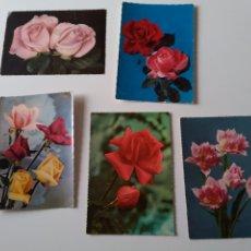 Postales: LOTE 5 POSTALES DE FLORES ( ROSAS) ESCRITAS PERO SIN SELLO.. Lote 257301865